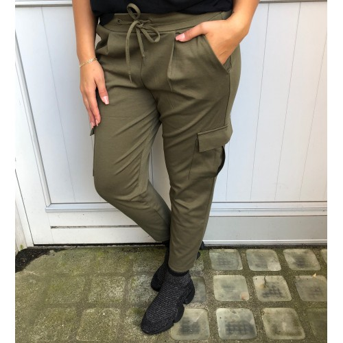 ICHI Kate pants army