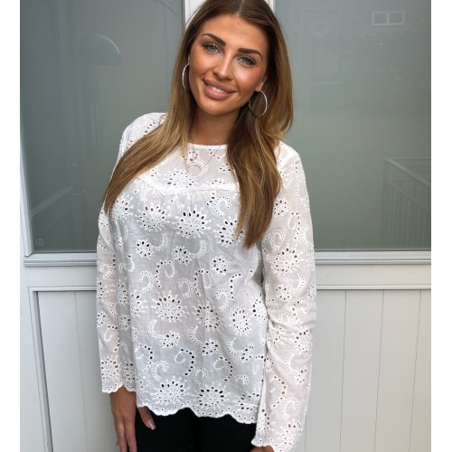 Sisters Point Vaike Blouse Cream