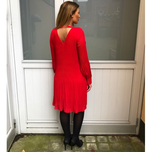 B.young plisse red dress 156