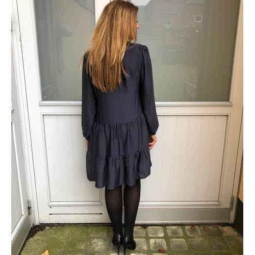 Neo Noir Federica soft dress navy