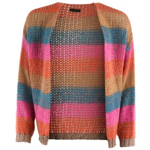 Black Colour Filuca cardigan orange multi