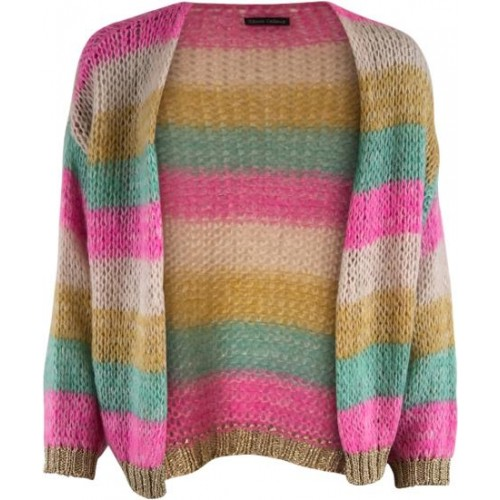 Black Colour Filuca cardigan pastel multi