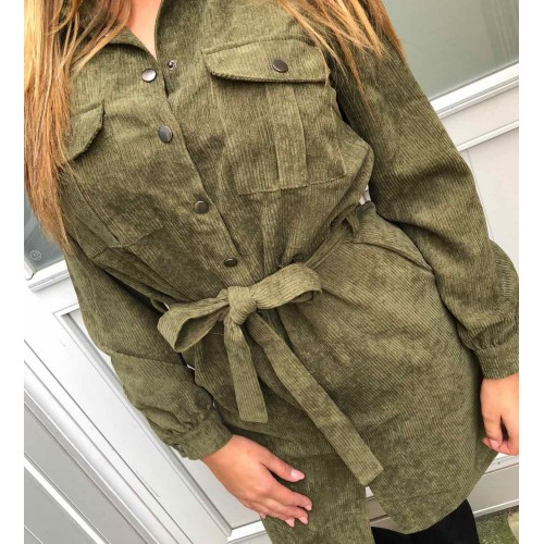 Sisters Point Elma dress khaki