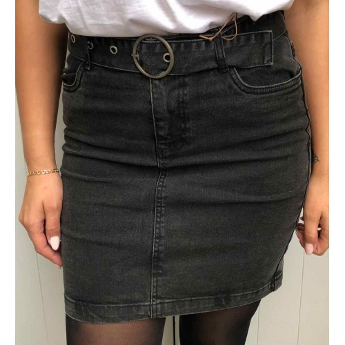 B.young black denim skirt 7402
