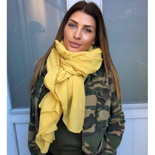 Black Colour EMMA scarf yellow