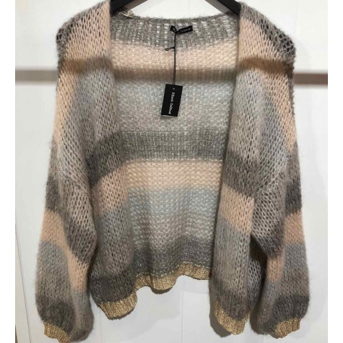 Black Colour Filuca cardigan nude