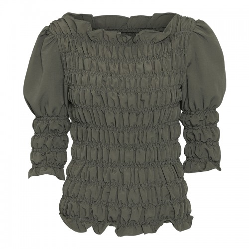 CONTINUE Julia smock blouse army