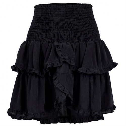 Neo Noir Trinity skirt sort