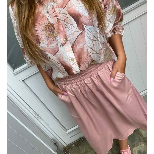 LOVE AND DIVINE blouse big flower rose 436
