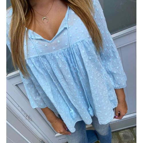 DEFINE Penny blouse baby blue