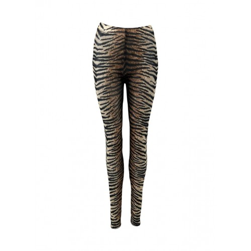 BLACK COLOUR Annie mesh leggings tiger
