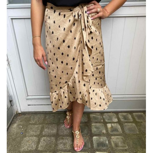 Neo Noir Mika Feather skirt camel