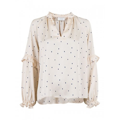 Neo Noir Willow graphic dot blouse