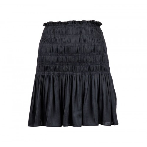 Neo Noir Ginger Sateen skirt
