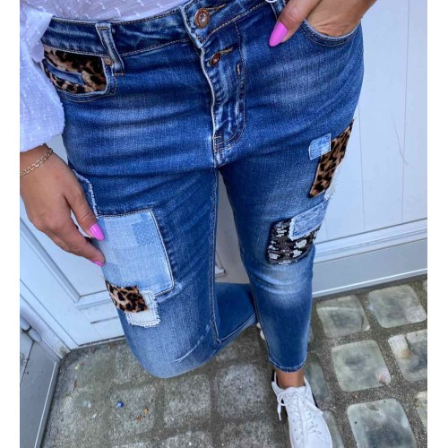 CABANA LIVING Patch jeans