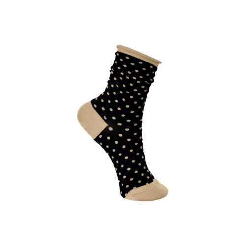 BLACK COLOUR leigh dotted sock sort 4232