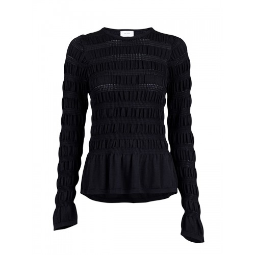 Neo Noir Christi Knit blouse sort