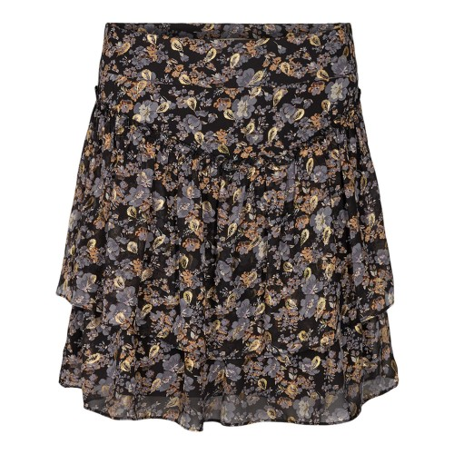 Sofie Schnoor flower black skirt 4252