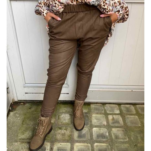 DEPECHE Pant pants dusty taupe