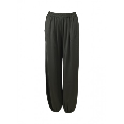 BLACK COLOUR Zita balloon satin pants - dark grey