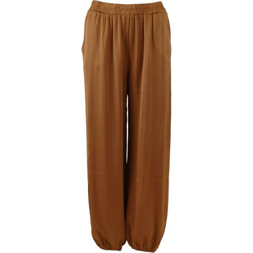 BLACK COLOUR Zita ballon satin pants - camel