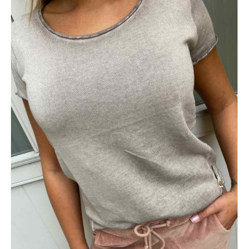 COTTON CANDY Arabella t-shirt - smoked grey