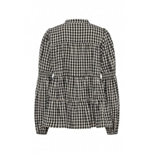CONTINUE Sanna bluse - Small Check Black