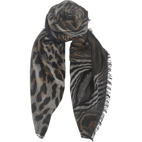 BLACK COLOUR Electra doublesided scarf