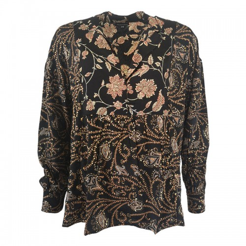 BLACK COLOUR Luna multi blouse - black multi