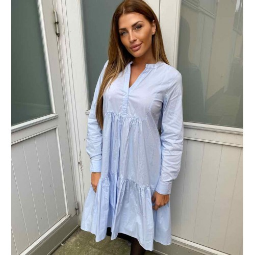 NEO NOIR Silvia Poplin dress - light blue