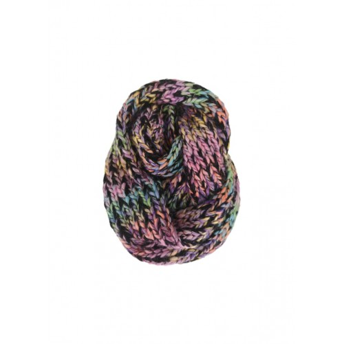 BLACK COLOUR dory knitted tube scarf