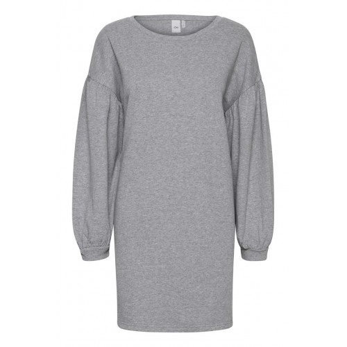 ICHI Puffy sweat dress - grey 2305