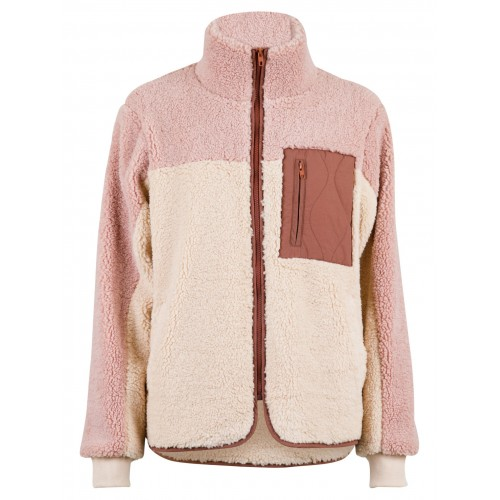 NEO NOIR Eagle teddy jacket - rose