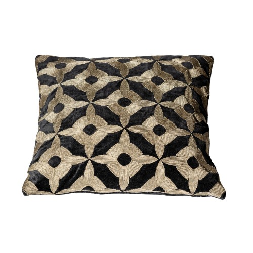 BLACK EMPIRE EMBROIDERY CUSHION 50X50 CM