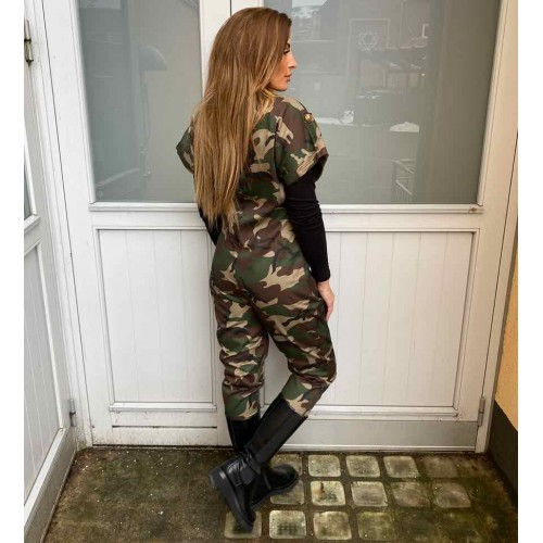 DESIGN BY LÆRKE Jumpsuit camo
