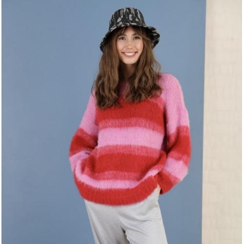 BLACK COLOUR Avery brushed jumper