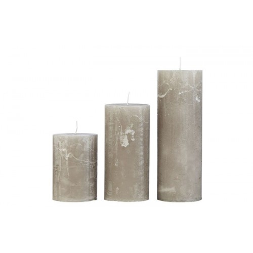 Rustic candle stone 7x10