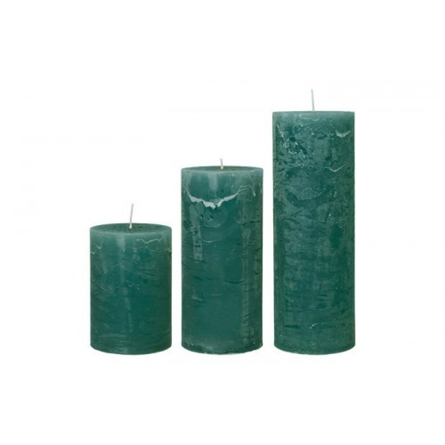 Rustic candle olive 7 x 20
